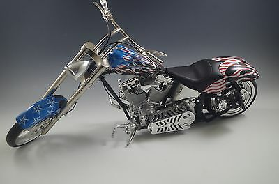 Orange County Choppers Blue/red/black By Toy Zone Die Cast Motorcycle 14'' In
