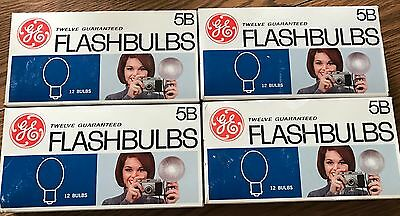 VTG Lot of 46 General Electric GE #5B Blue Flash Bulbs Camera New Old Stock