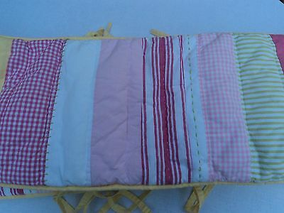 Pottery Barn Kids Girls Kasey  Pink Striped Baby Nursery Crib Bumper
