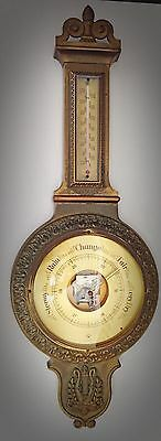 Antique/Vintage Bronze/Brass? Barometer / Thermometer - Made In Germany 1940s