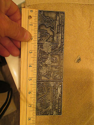 """VINTAGE Comic Strip Printing Plate """" Prattle and Tattle """"  1920's"""