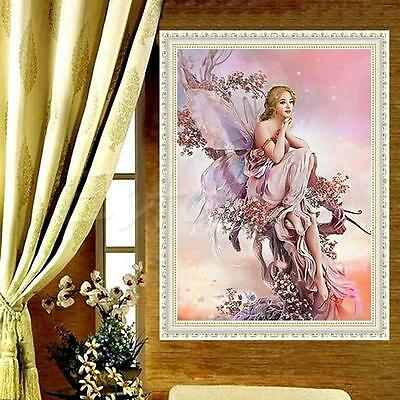 5D Fairy Butterfly DIY Diamond Embroidery Painting Cros Stitch Home Decor CraftC