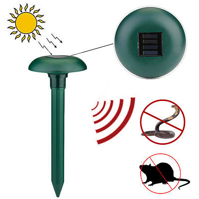Solar Power Ultrasonic Sonic Snake Mouse Mice Mole Insect Pest Rodent Repeller S
