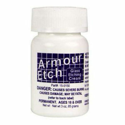 Armour Etch Glass Etching Cream, 2.8 oz Fast Shipping
