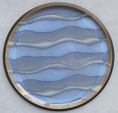 Denby Blue Jetty Water Large Round Serving Platter New w Label