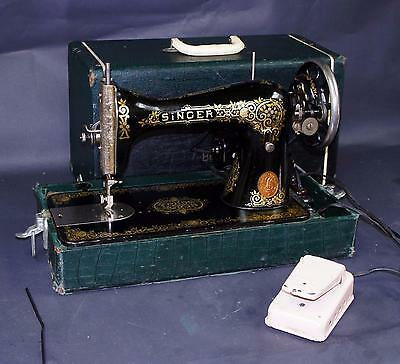Rare 1911 Singer 115 Sewing Machine With Case !!  P835