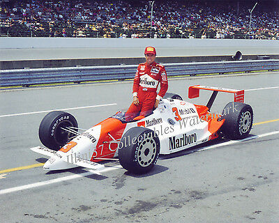 OnlyClassics 1989 INDY 500 Race 8X10 Photo Rick Mears Al Unser Emerson Fittipaldi AUTO Racing
