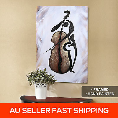 Melody Hand Painted Large 90cm Wall Art Oil Painting Hanging Framed Canvas Decor