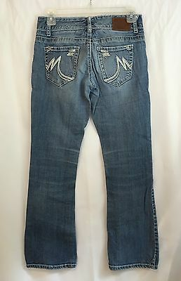 MAURICES ORIGINAL JEANS Size 0 Short Petite Blue Distressed Stretch Boot 28x29