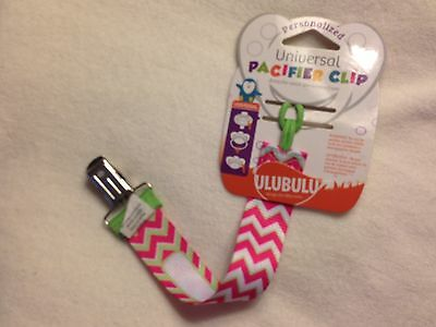Universal Personalized Pacifier Clip Holder ULUBULU Hot Pink