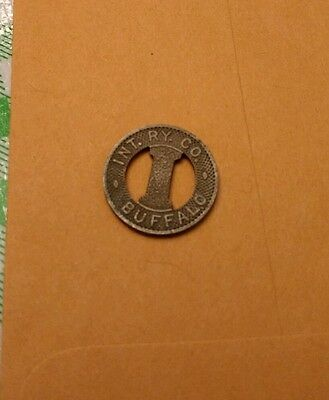 Int Ry Co Buffalo interstate token for one city fare
