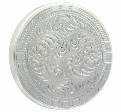 Montana Silversmiths Western Snuff Can Lid Floral Rope Silver LID6NF