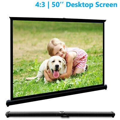 Portable 50'' Tabletop Projector Screen 4:3 HD Outdoor Projection Home Cinema AU