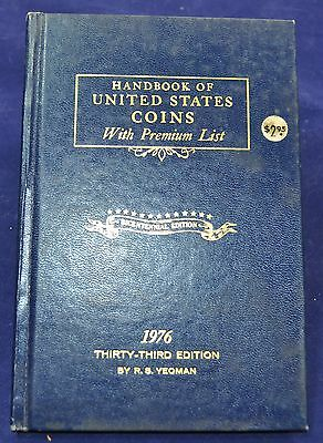 Whitman 1976, Handbook of United States Coins, Hardcover - 33rd Ed.