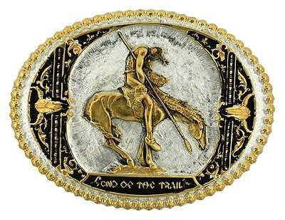 Montana Silversmiths Belt Buckle End of the Trail Silver 60972P
