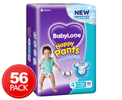 BabyLove Toddler Jumbo Nappy Pants 9-14kg 56pk