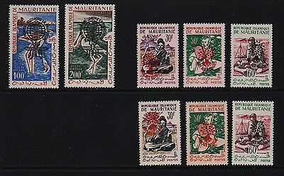 Mauritania - Early Independence overprints - cat. $ 40.00