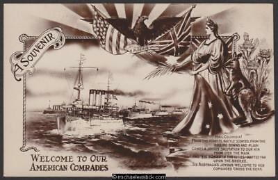 US Fleet Visit to Australia 1908 - Welcome to Our American Comrades
