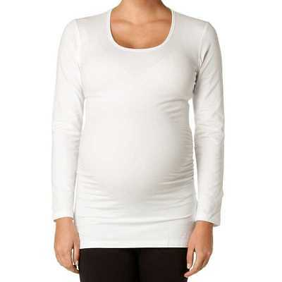 Soon Maternity Long Sleeve Scoop Neck Top Size XS