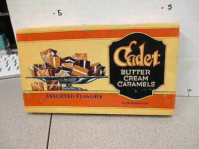 CADET butter cream caramels 1940s vintage deco candy box store display