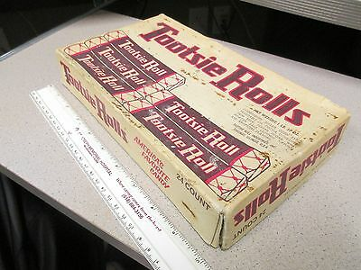TOOTSIE ROLLS 1950s vintage candy box store display pops chocolate #2(spots)
