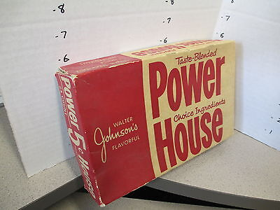 Walter Johnson POWER HOUSE candy bar store display box 1940s chocolate FLAVORFUL