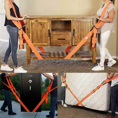 Lifting Moving Shoulder Strap Lift Aid Tool Heavy Furniture Appliance Transfer