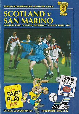 SCOTLAND v SAN MARINO ~ EURO QUALIFIER ~ 13 NOVEMBER 1991