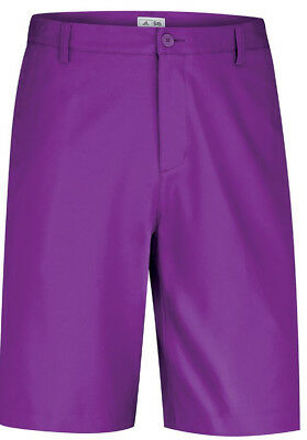 adidas Flat Front Mens Golf Shorts - Purple