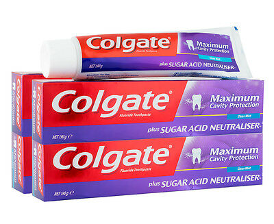 4 x Colgate Maximum Cavity Protection Toothpaste Clean Mint 190g