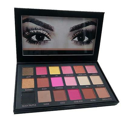 New Rose Gold Textured Eyeshadow 18 Colors Matte Eye Shadow Palette Cosmetics SB