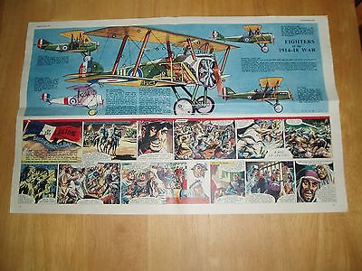 Eagle  Cutaway 25/2/1955 Fighters Of The 1914-18 War  Sopwith Spad  De Haviland