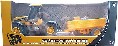 JCB Tractor & Trailer 1:32 Boys Toy Construction Farm Vehicle Toy NEW BOXED