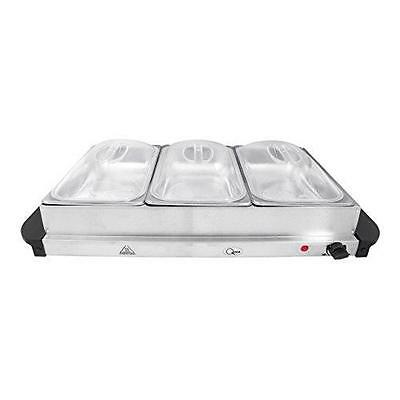 Quest 3 Tray Electric Buffet Server / Food Warming Tray - Party Dinner 3L 16520