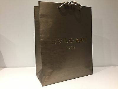 Used - BULGARI Roma - bolsa Dorado - Golden paper bag  33 x 26,5 x 12 cm