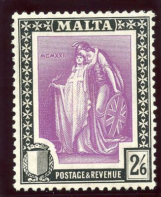 Malta 1922 KGV 2s 6d bright magenta & black superb MNH. SG 136. Sc 111.