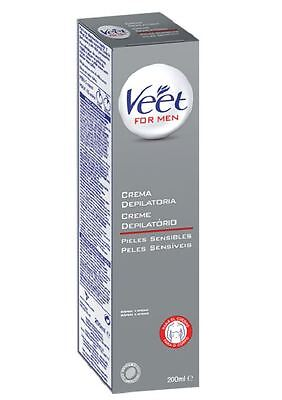 Veet For Men Crema Depilatoria Piel Normal Depilación Rápida Sin Dolor 200ml