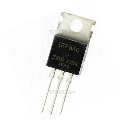 10Pcs N-Channel TO-220 Ir IRF840N IRF840 Transistor 8A 500V Mosfet Ic New cv