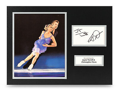 Jayne Torvill & Christopher Dean Signed 16x12 Photo Display Skating Autograph