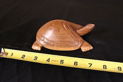 Large Carved Light colored Hard wood Turtle