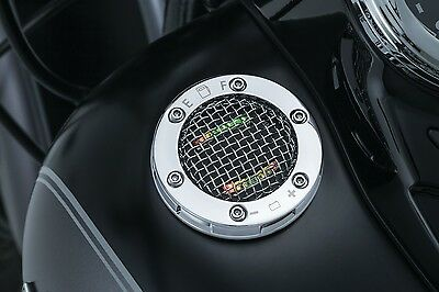 Medidor Combustible Para Harley-Davidson Kuryakyn Mesh Fuel/Battery Gauge Chrome