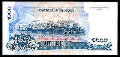 World Paper Money - Cambodia 1000 Riels 2007 P58  @ Crisp UNC