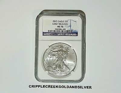 2015 American Silver Eagle - Ngc Ms70 - Early Releases - $74.95