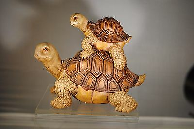 Mom And Baby Turtle Figurine / Garden Decor - New In Box