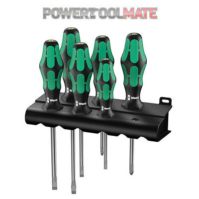 Wera 105656 6 Piece Kraftform Plus Lasertip Screwdriver Set SL & PZ