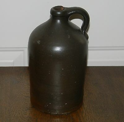 VINTAGE ANTIQUE PRIMITIVE POTTERY 10 INCH TALL JUG NORTH SOUTH CAROLINA nice