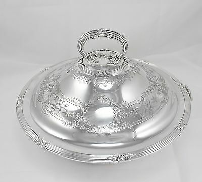 Antique Silver Plate Entree Hors D'oeuvres Serving Dish Heavy Circa 1850-1872