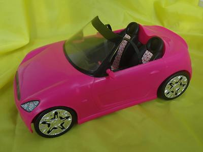 BARBIE - CONVERTIBLE CAR for toy doll  - BRIGHT PINK!