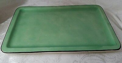 RARE! VINTAGE 1930's DITMAR URBACH ART DECO TRAY TURQUOISE HAND PAINTED ANTIQUE