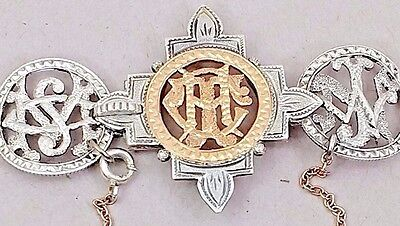 Victorian Love Token Silver Seated Liberty 1878 $2.50 Gold Piece Coin Bracelet